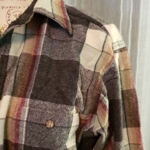 Pendleton 100% Virgin Wool Flannel Shirt Size L